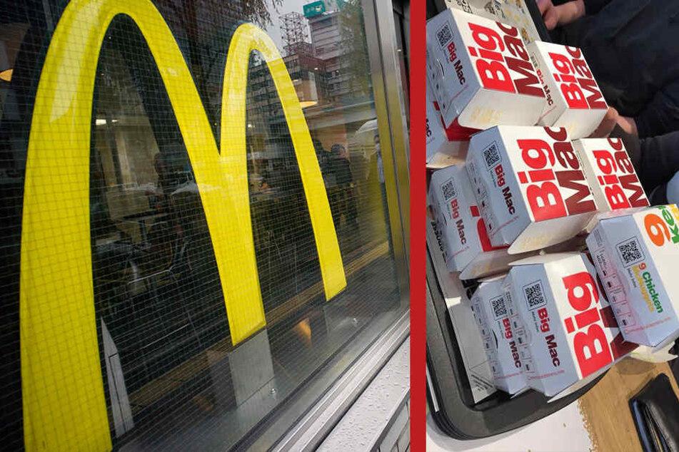 Mehrere Kunden bestellten BigMacs.
