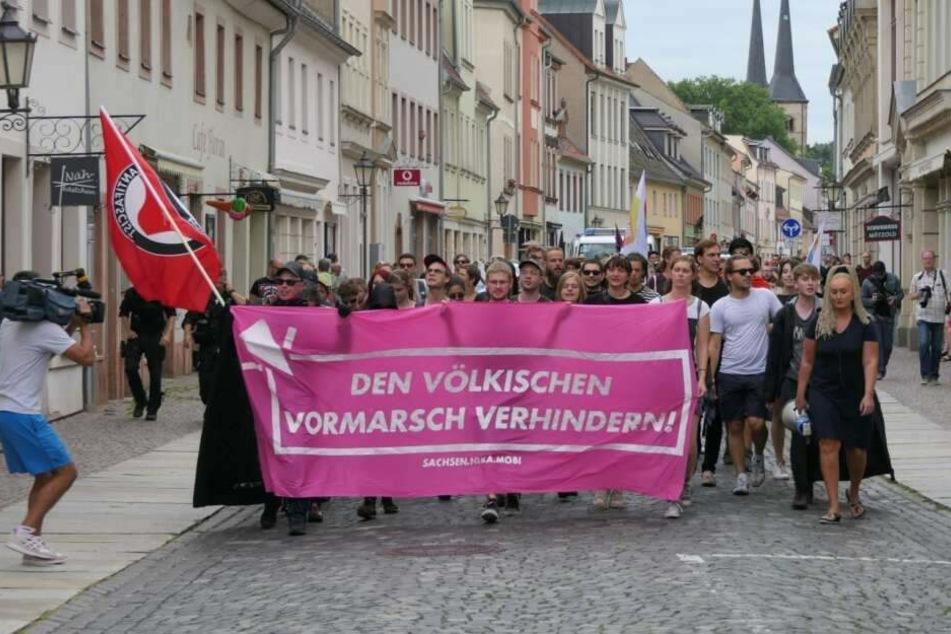 Mehrere Bündnisse und Gruppierungen versammelten sich am vergangenen Freitag zum Protest in Grimma.