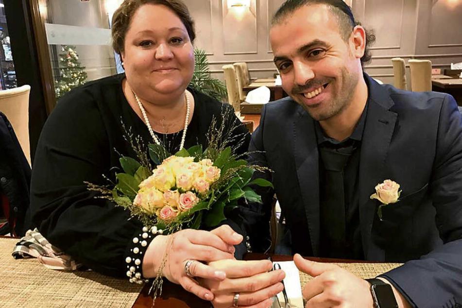 Bei ihrer Hochzeit vergangenes Jahr waren Belinda (44) und Houssam (35) noch glücklich.