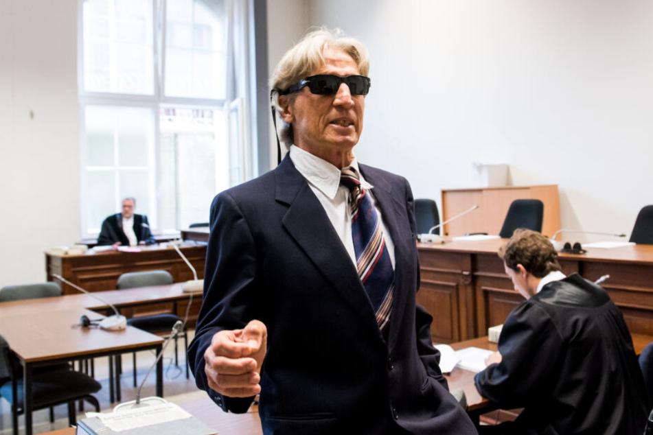 Der Bankräuber zog vor Gericht eine wahre Show ab.