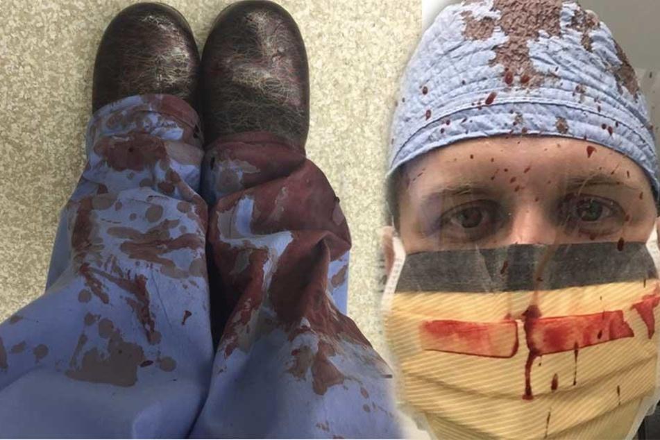 Ärzte schocken mit Blut-Selfies und haben dramatischen Grund