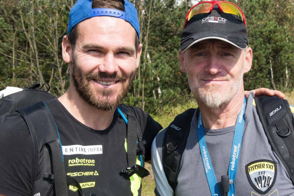Michael Rösch mit seinem verstorbenen Trainer Klaus Siebert.