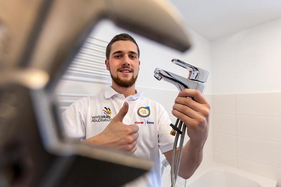 Lukas Heyn hat's geschafft: Er darf zur Handwerker-Weltmeisterschaft nach Abu  Dhabi.