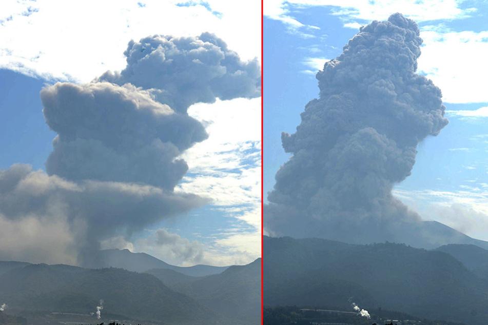 Alarmstufe 3! Vulkan stößt kilometerhohe Aschesäule aus