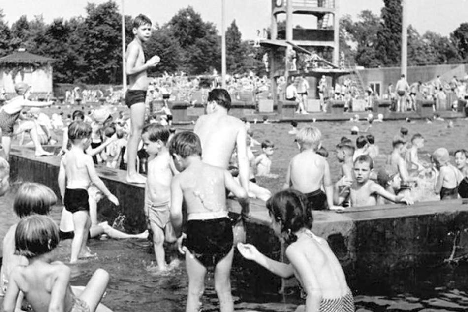 Ein Blick in die Vergangenheit des 1928 eröffneten Georg-Arnhold-Bades.