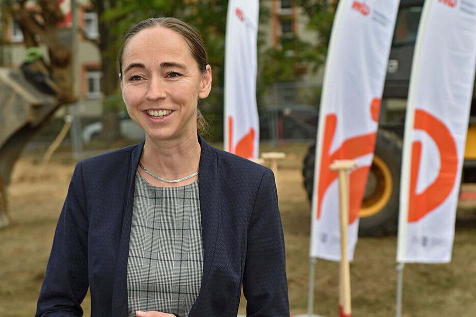 Sozialbürgermeisterin Kristin Kaufmann (42, Linke) ist für das städtische Unternehmen zuständig.