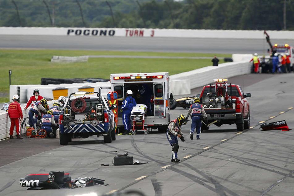Der Kanadier kollidierte mit einem anderen Auto, sein Wagen wurde völlig zerstört.