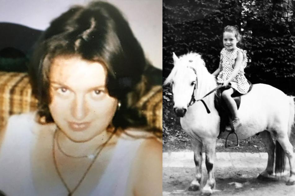 Cordula Keller als 22-Jährige im Jahr ihres Verschwindens (re.) und als Sechsjährige beim Reiten. Der Familie bleiben nur solche Bilder und Erinnerungen.
