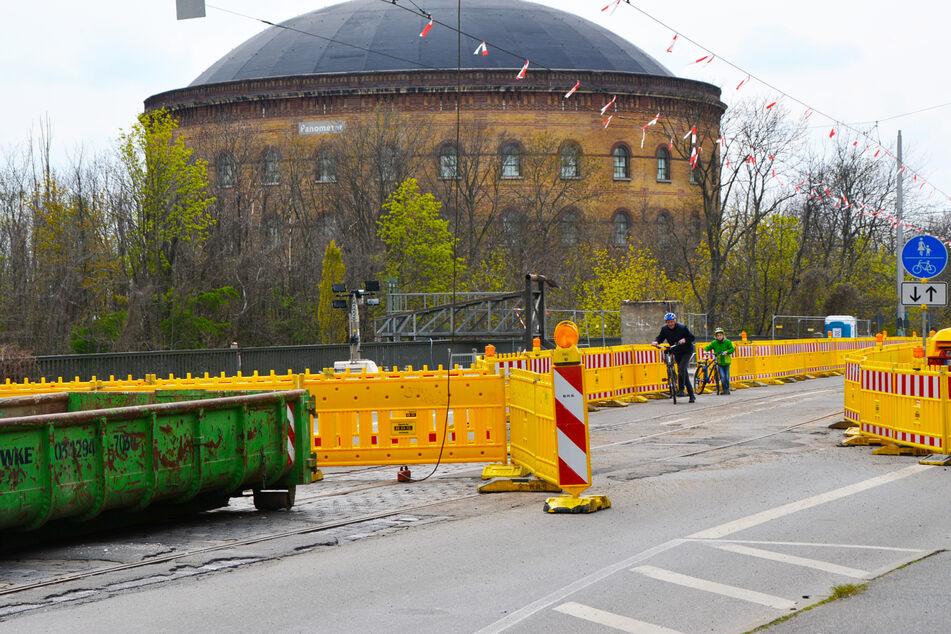 Die Richard-Lehmann-Brücke ist seit einigen Tagen bis voraussichtlich Ende März 2022 gesperrt.