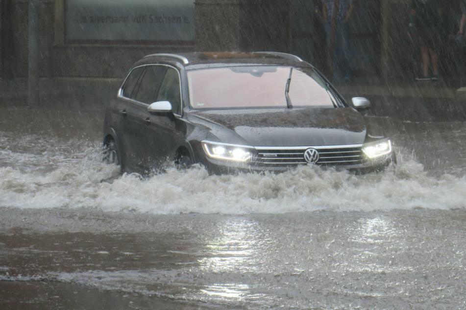 Heftige Unwetter über Sachsen sorgen erneut für Überschwemmungen