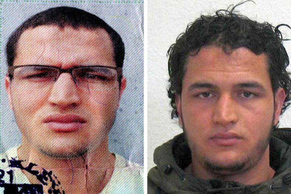 Die Bildkombo vom Bundeskriminalamt (BKA) zeigt Fahndungsfotos des Berliner Weihnachtsmarkt-Attentäters Anis Amri.