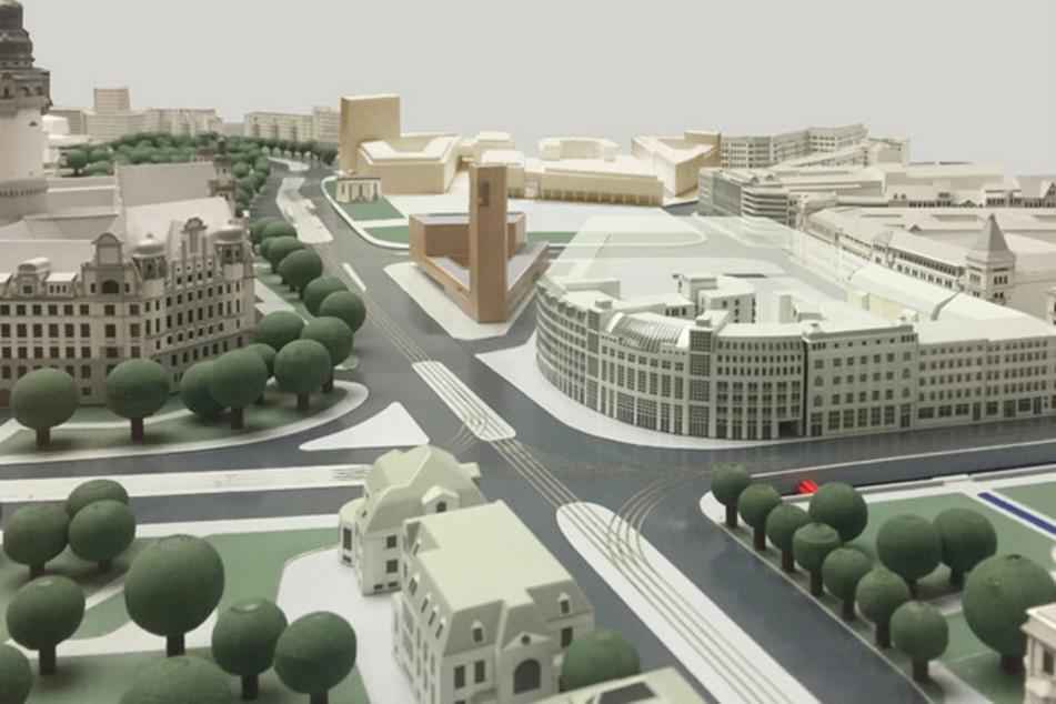 Mit viel Grün und neuen Gebäuden: So soll der Wilhelm-Leuschner-Platz in Zukunft aussehen.
