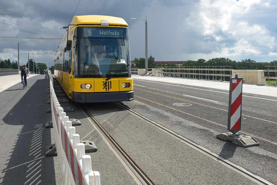 Ab Montag können Strabas nicht mehr über die Albertbrücke fahren.