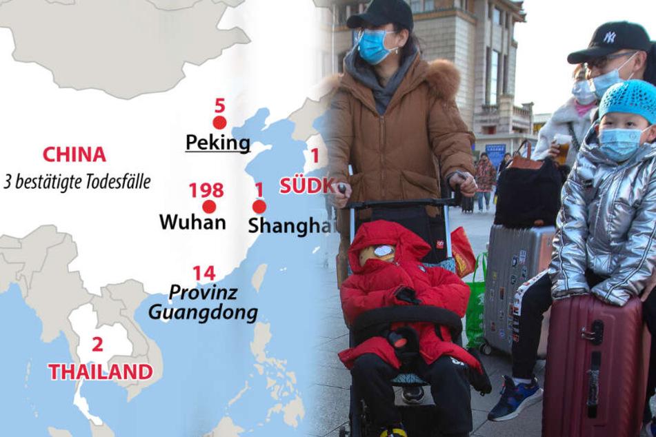 Weiterer Todesfall in China: Gefährliche Lungenkrankheit breitet sich aus