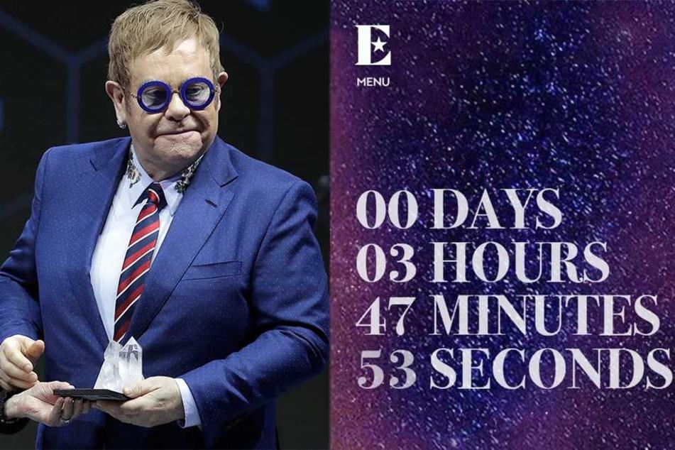 Ein mysteriöser Countdown lief auf seiner Seite.