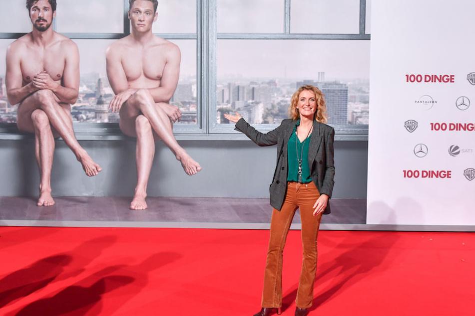"""Maria Furtwängler (52) am Montag bei der Kino-Premiere zu """"100 Dinge"""" am Potsdamer Platz in Berlin."""