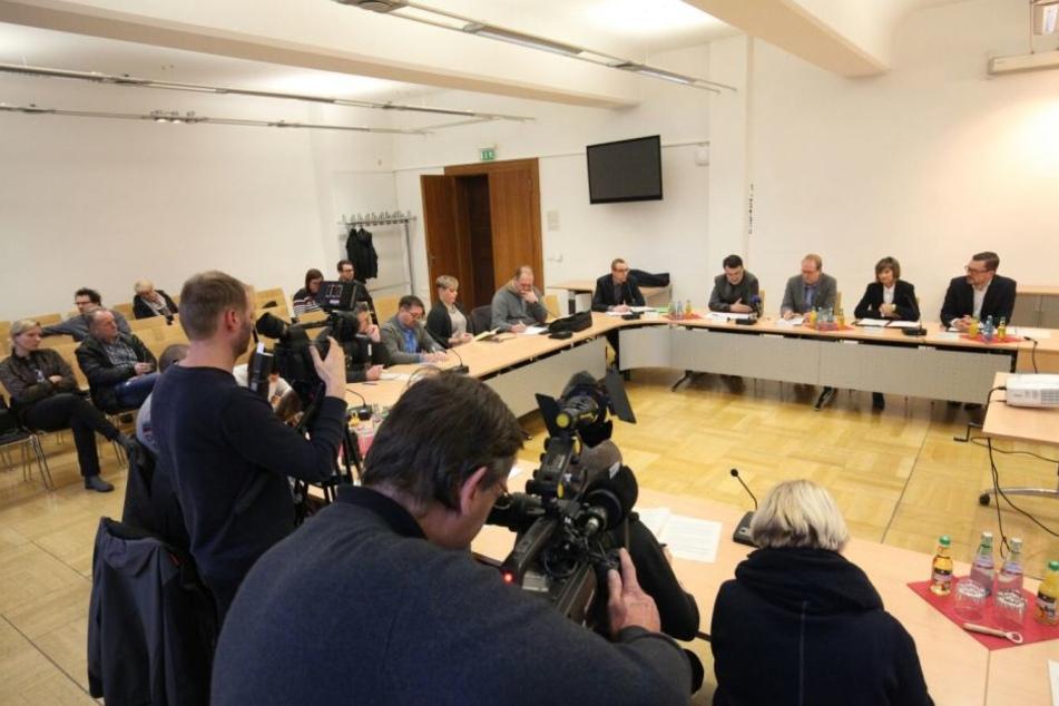 Großes Medieninteresse bei der Pressekonferenz im Rathaus.