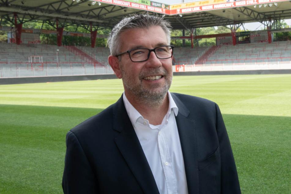 Urs Fischer wird als neuer Trainer vom 1. FC Union Berlin vorgestellt.