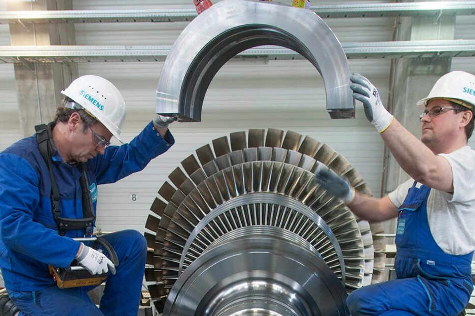 Noch werden bei Siemens in Görlitz Turbinen produziert.