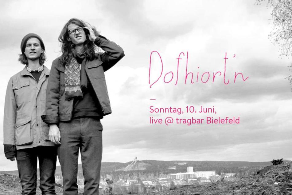 Dofhiort'n spielt im tragbar-Laden in Bielefeld.