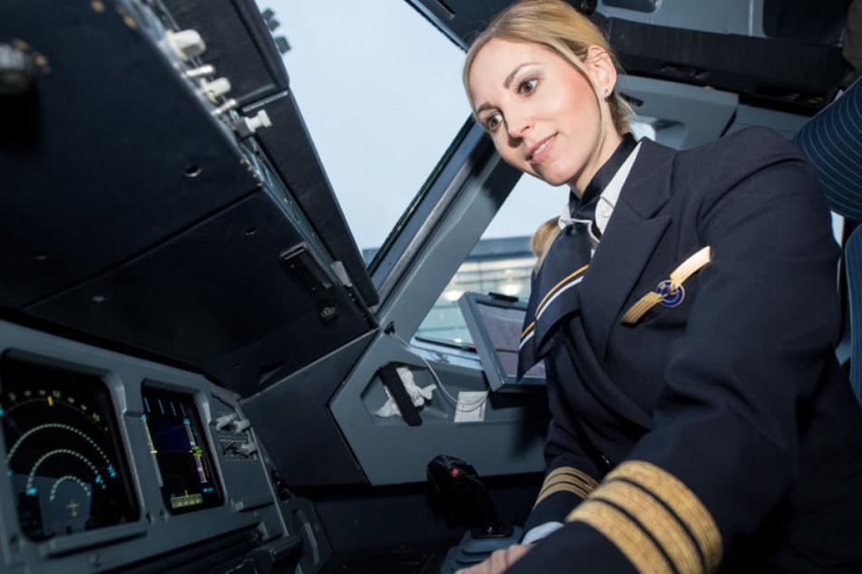 Co-Pilotin Laura Grammes war nur ein Bestandteil der fast ausschließlich weiblichen Crew auf Flug LH 174.