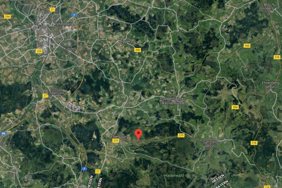 Der Vorfall ereignete sich auf der Bahnstrecke Fulda-Gersfeld bei Hettenhausen.