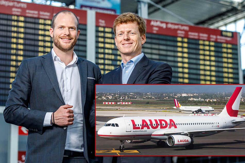 Lauda landet jetzt auch in Dresden