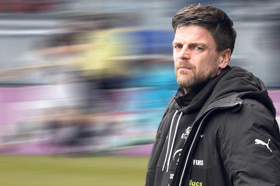 """FSV-Coach Torsten Ziegner reagierte schockiert: """"Das war ein Rückschlag. Wir haben uns keine einzige Chance erspielt - erschreckend!"""""""