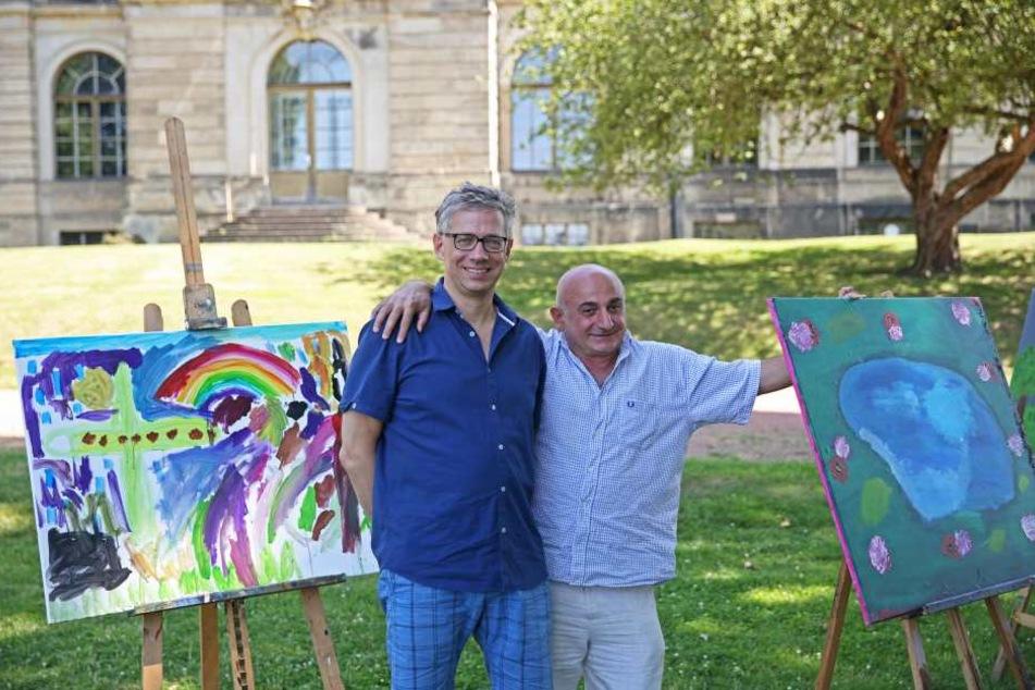 Festival-Chef Jörg Polenz (53) und der künstlerische Leiter Aleko Adamia (55,  l.) haben ein Programm mit 119 Veranstaltungen zusammengestellt.