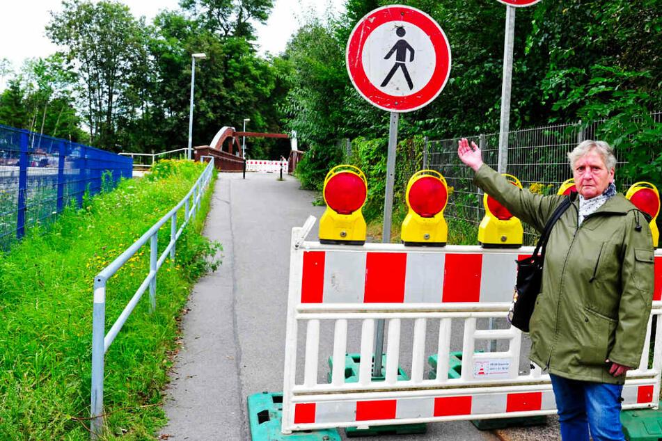 Baustellen Chemnitz: Aufruhr an der Chemnitz: Stadt sperrt beliebte Brücke