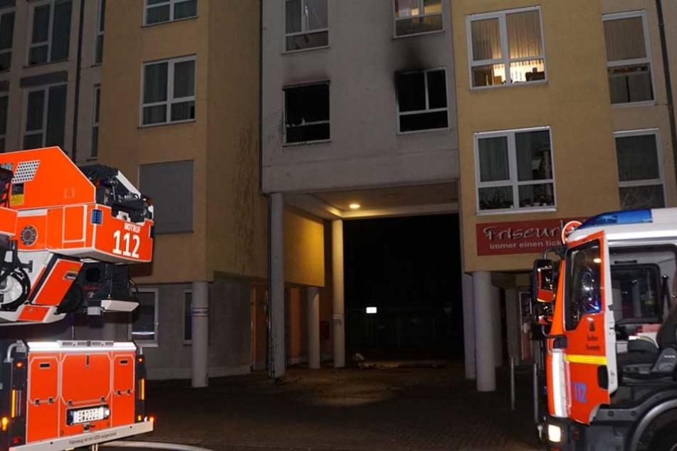 In der ersten Etage des Hauses hatte eine Wohnung gebrannt.