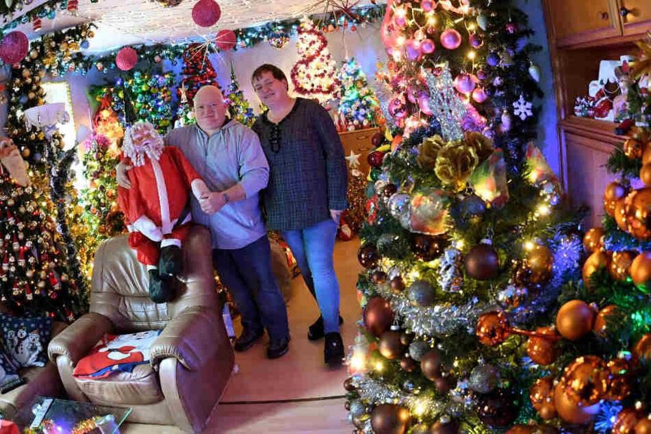 316 dekorierte Bäume besitzt die Familie Jeromin aus Rinteln.