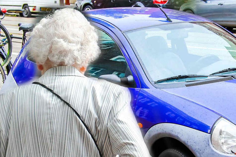 Die hilflose Oma wurde blutig geschlagen, dann war sie auch noch ihr Auto los.