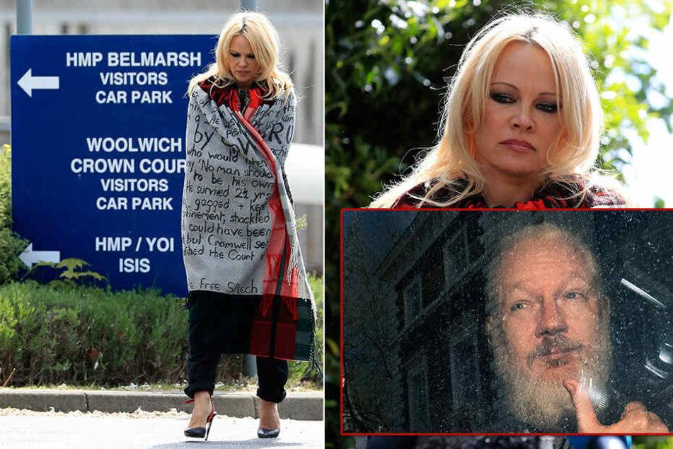 Pamela Anderson in großer Sorge! Leben von Julian Assange in Gefahr?