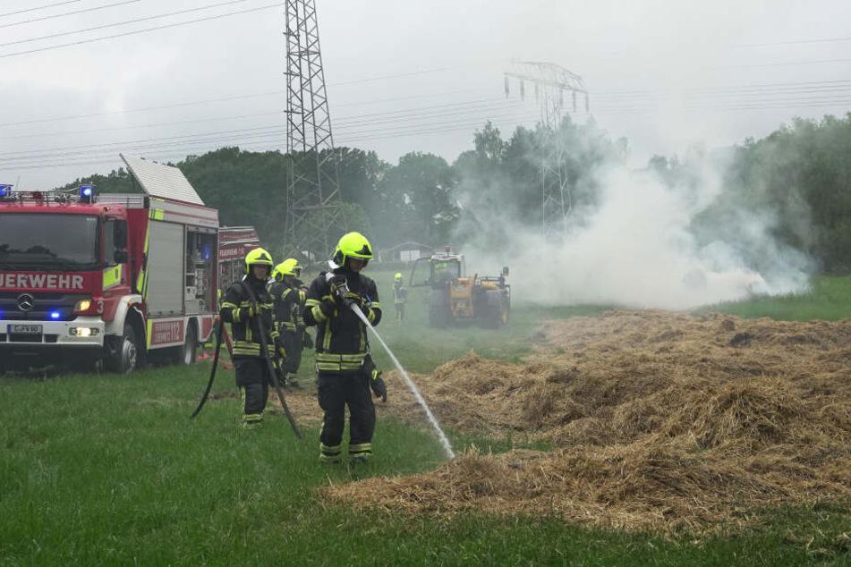 Die Polizei hat Ermittlungen wegen Brandstiftung aufgenommen.