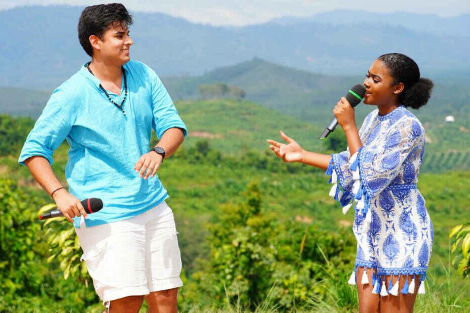 """Joaquin Parraguez (20) und Jayla Ndoumbé Epoupa wollen mit """"El Perdón"""" von Enrique Iglesias & Nicky Jam eine Runde weiter kommen."""