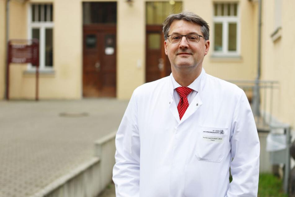Prof. Dr. med. Christoph Lübbert, Chefarzt der Isolierstation im Krankenhaus St. Georg.