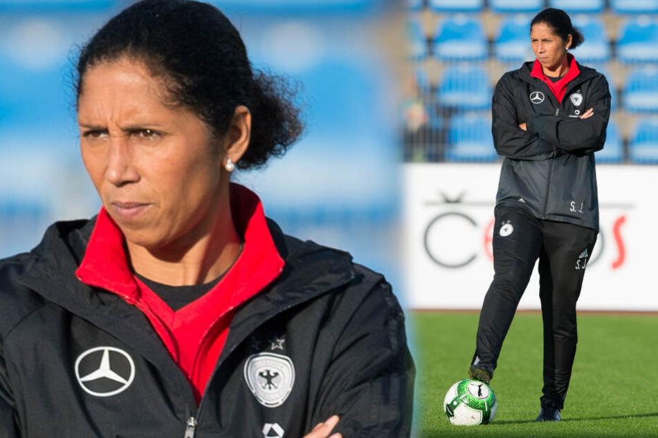 Steffi Jones, hier im Trainingsanzug war DFB-Nationaltrainerin der Frauen.