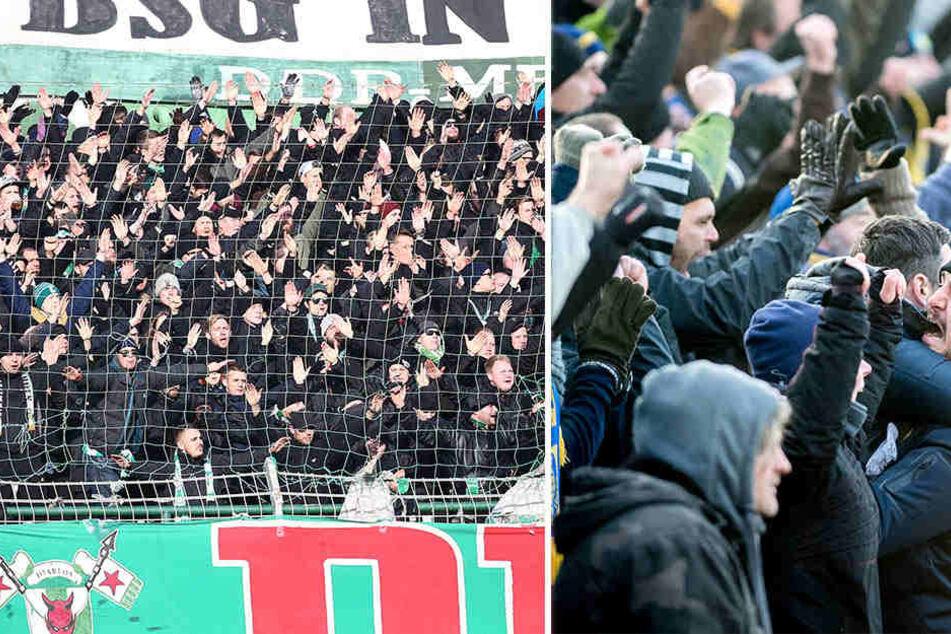 Hochemotional, aber friedlich: Das wünschen sich Polizei und Vereine vom Derby Chemie gegen Lok.