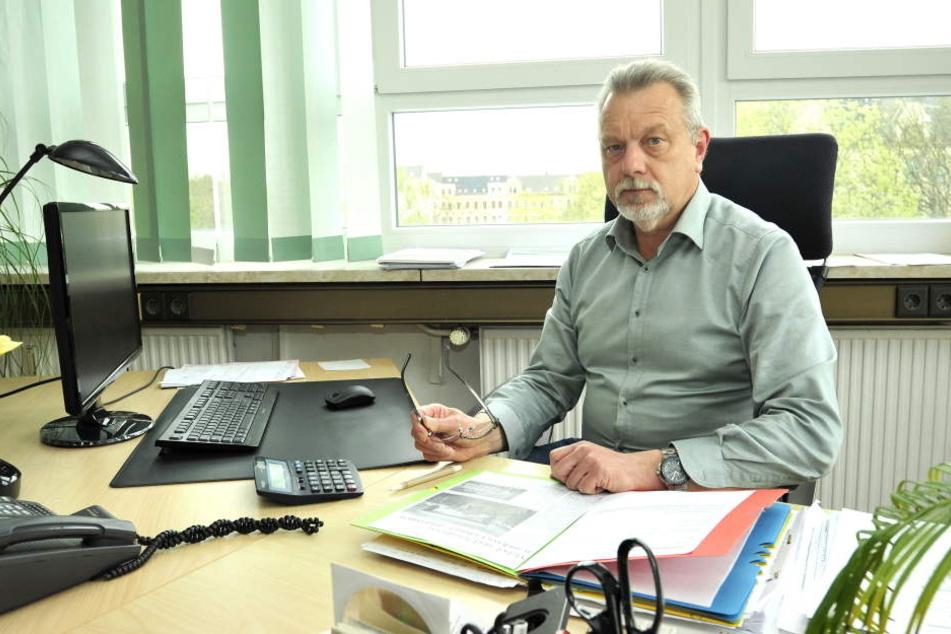 """Geschäftsführer vom Chemnitzer Verein """"Projekt Zukunft"""" Wolfgang Kmetzsch (59)."""