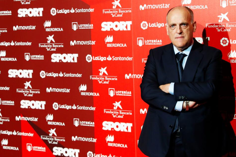 Spaniens Liga-Boss Javier Tebas (57) hat eine klare Ansage an die spanischen Profiklubs gemacht. (Archivbild)