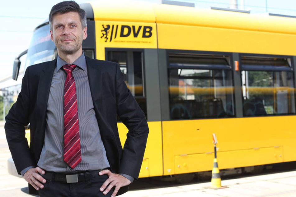 DVB-Geschäftsführer Lars Seiffert. Sein Unternehmen beschäftigt elf Flüchtlinge.