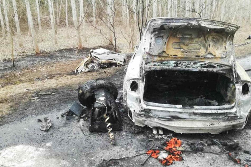 Auf einer Landstraße nahe der ungarischen Stadt Györ sind zwei Autos in Flammen aufgegangen. Sieben Menschen starben am Unfallort.