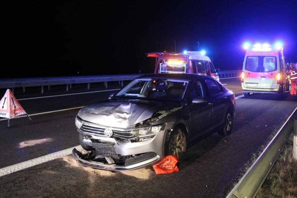 Auf der A38 kam es Sonntagnacht zu einem schweren Unfall.