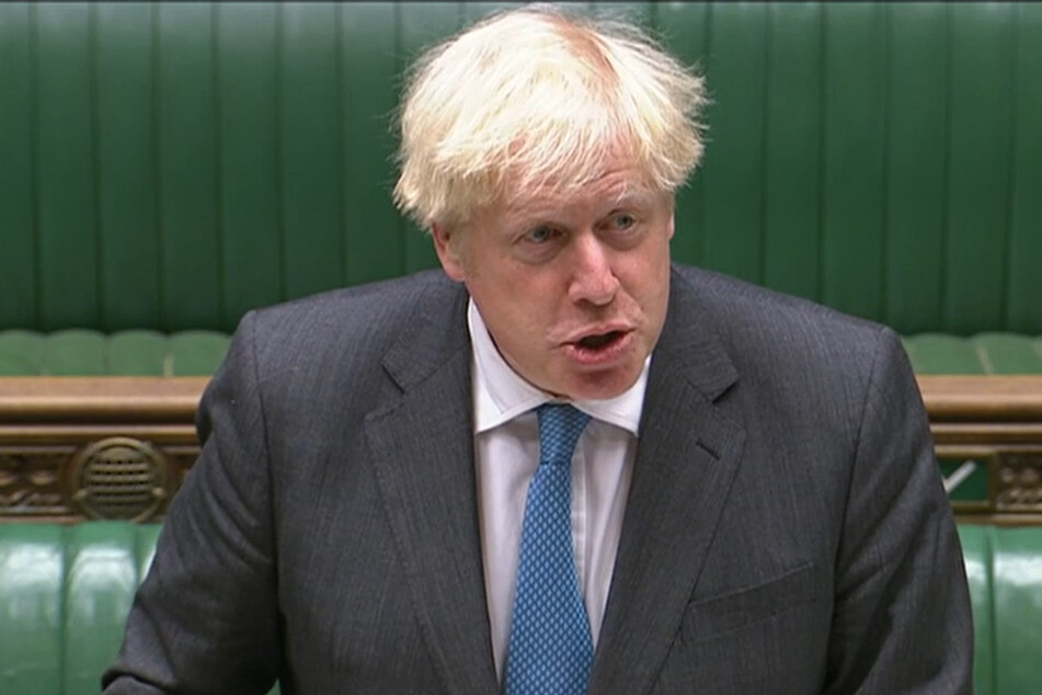 """Boris Johnson, Premierminister von Großbritannien, spricht im britischen Unterhaus, wo er an den """"Prime Minister's Questions"""" (""""Fragen an den Premierminister""""), teilnimmt."""