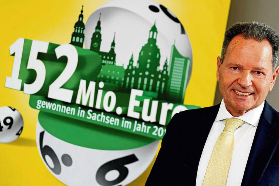 Sachsens Lotto-Chef Siegfried Schenek (61) durfte seinen Spielern 2018 zehn Millionen Einzelgewinne im Gesamtwert von 152 Millionen Euro auszahlen.