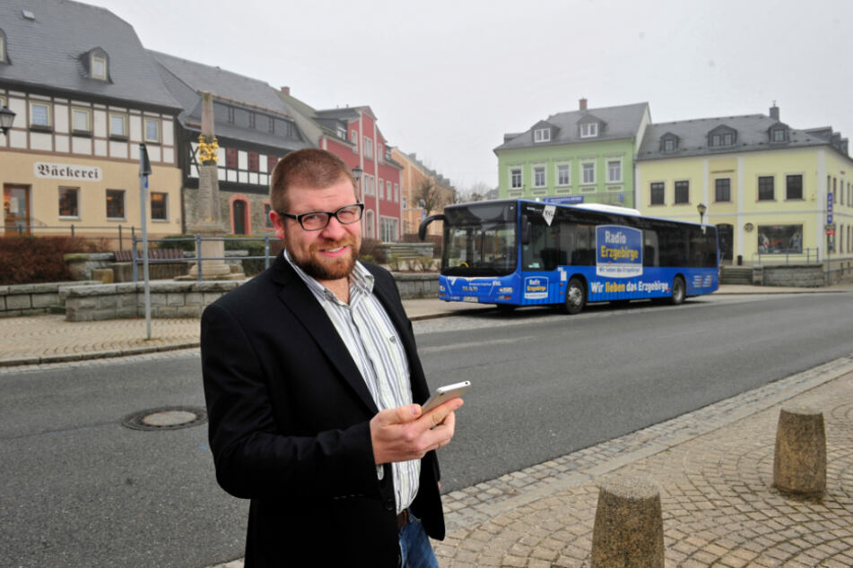 Martin Benedict organisiert für Zwönitz einen smarten Nahverkehr.