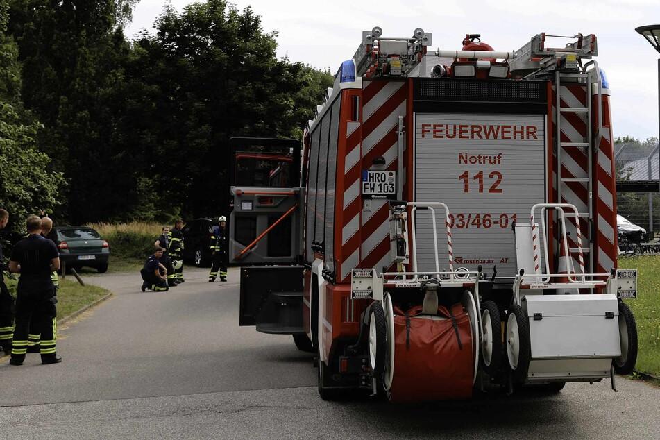 Die Feuerwehr war mit einem Großaufgebot vor Ort.