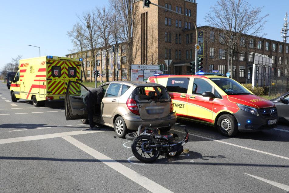 Die Unglücksstelle an der Washingtonstraße Ecke Overbeckstraße.