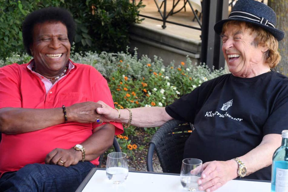 Mit seinem Freund Roberto Blanco (links) werde er verwechselt, sagt Marshall.